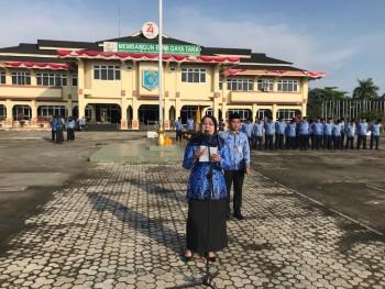 Pimpin Apel Gabungan Korpri, Ina sebut  Keputusan Berbuat Lebih Baik 2019 Implementasi Moto Kabupaten Paser