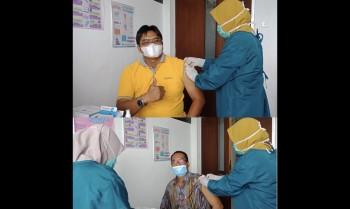 Pendidik dan Tenaga Kependidikan MTsN 1 Paser Terima Vaksin Covid-19 Tahap Dua