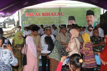Bupati Yusriansyah Halalbihalal di Desa Makmur Jaya