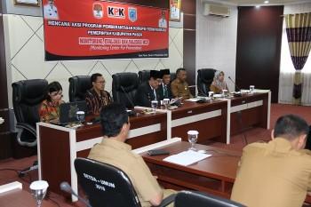 KPK & Pemkab Paser Gelar Monitoring & Evaluasi Rencana Aksi Pemberantasan Korupsi Terintegrasi