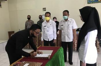 Pelantikan Anggota BPD Batu Sopang, Arief : Wujudkan Kerja Cerdas dan Inovatif untuk Pembangunan Desa