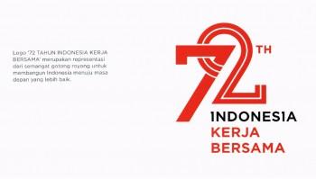 Usung Indonesia Kerja Bersama, Ini Tema dan Logo HUT ke-72 RI
