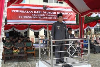 Upacara Otda; Wabup Pimpin Hari Otonomi Daerah ke-21
