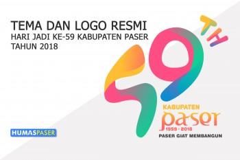 TEMA DAN LOGO RESMI HARI JADI KE-59 KABUPATEN PASER TAHUN 2018